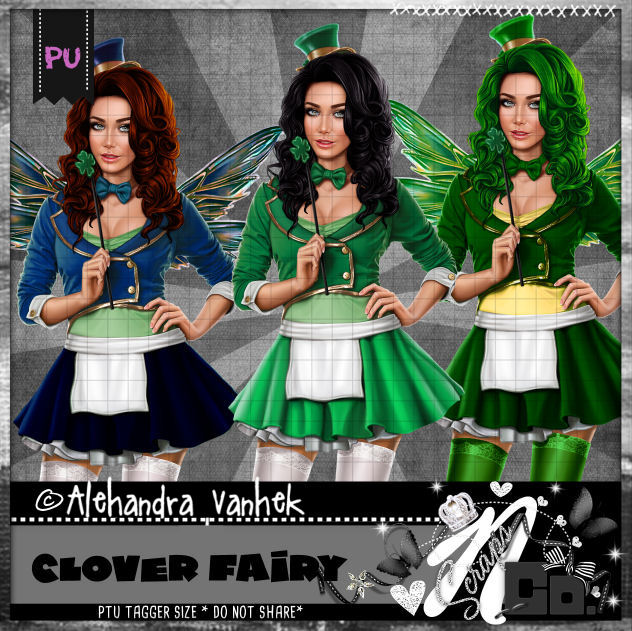 CLOVER FAIRY PSD LAYERS