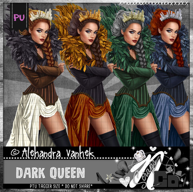 DARK QUEEN IN PSD LAYERS