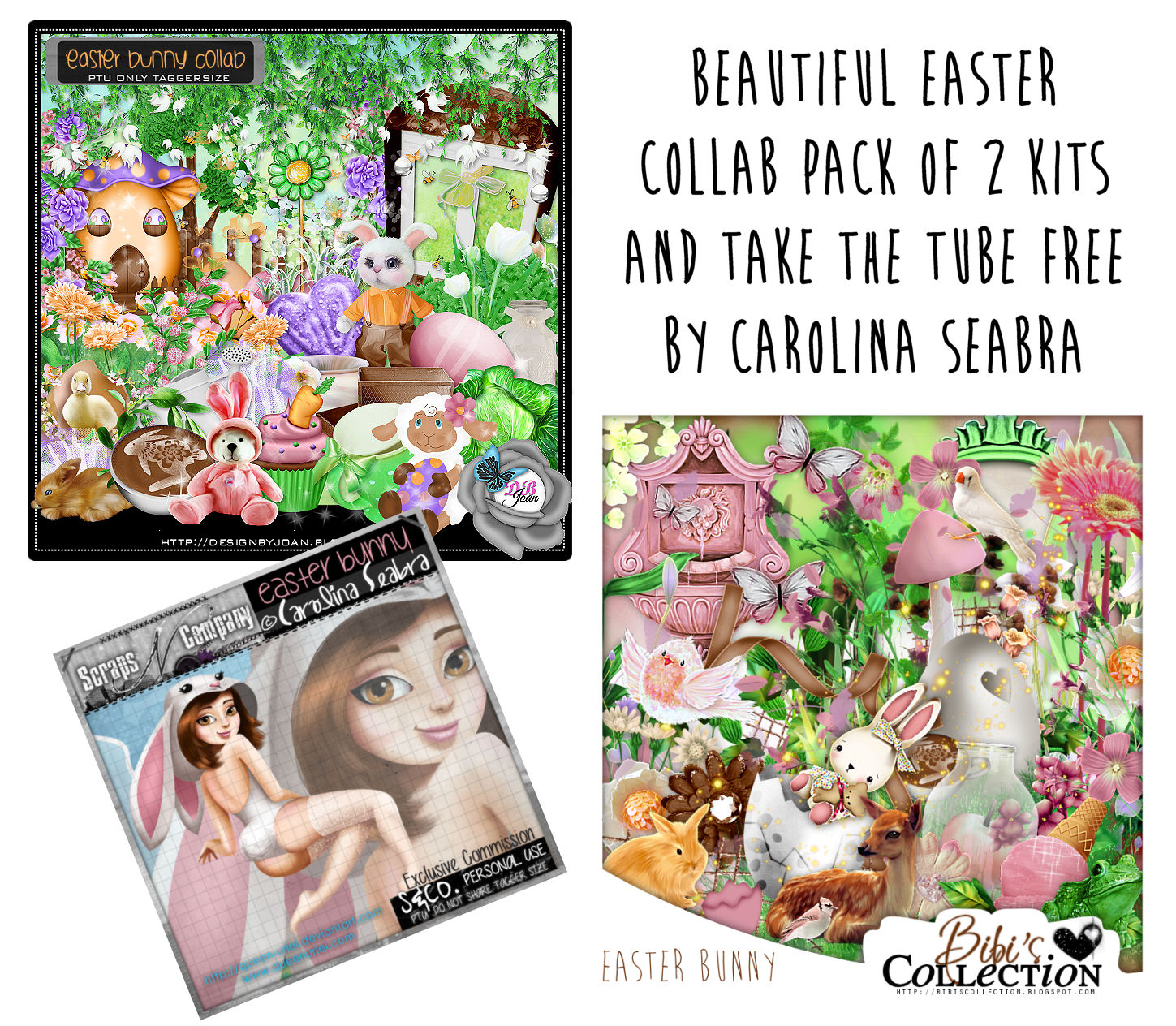 EASTER BUNNY 2KITS PACK AND FREE TUBE