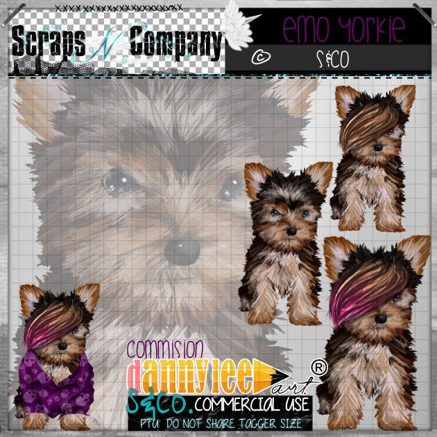 YORKIE COMMISION Freebie with Purchase