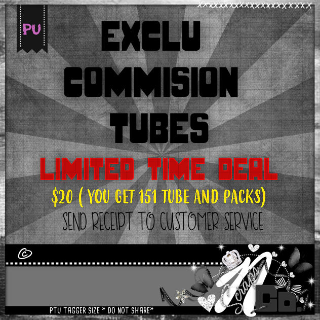 !LIMITED TIME COMMISSION TUBES-PACKS FOR ONLY $20