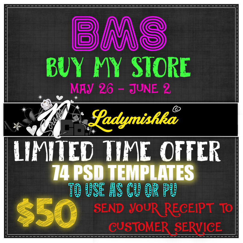 !!BMS CU PU TEMPLATES LADYMISHKA LIMITED TIME $50
