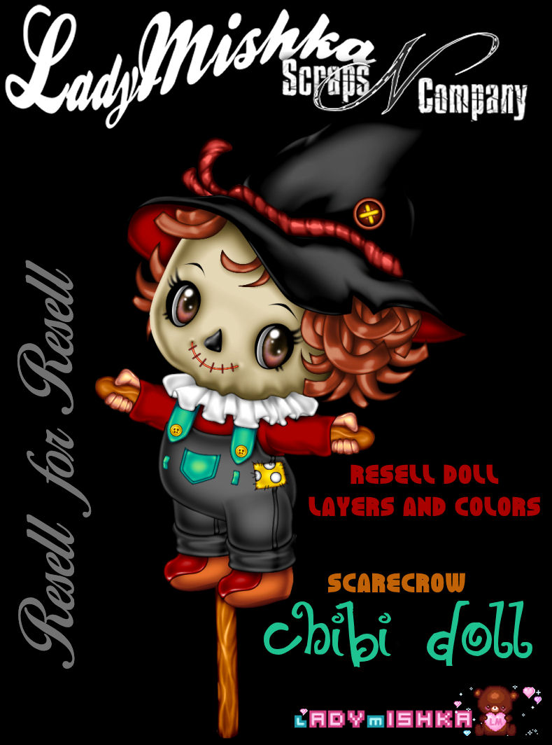 SCARECROW CHIBI DOLL 2017 RESELL X RESELL