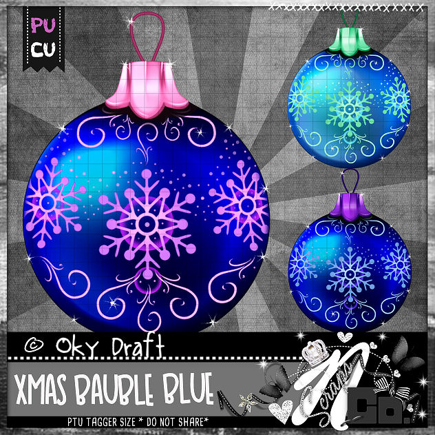 BAUBLE BLUE