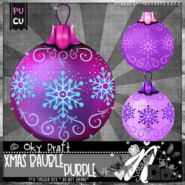BAUBLE PURPLE
