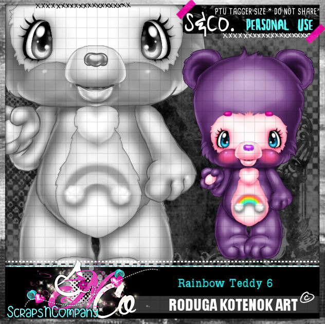 RAINBOW TEDDY6