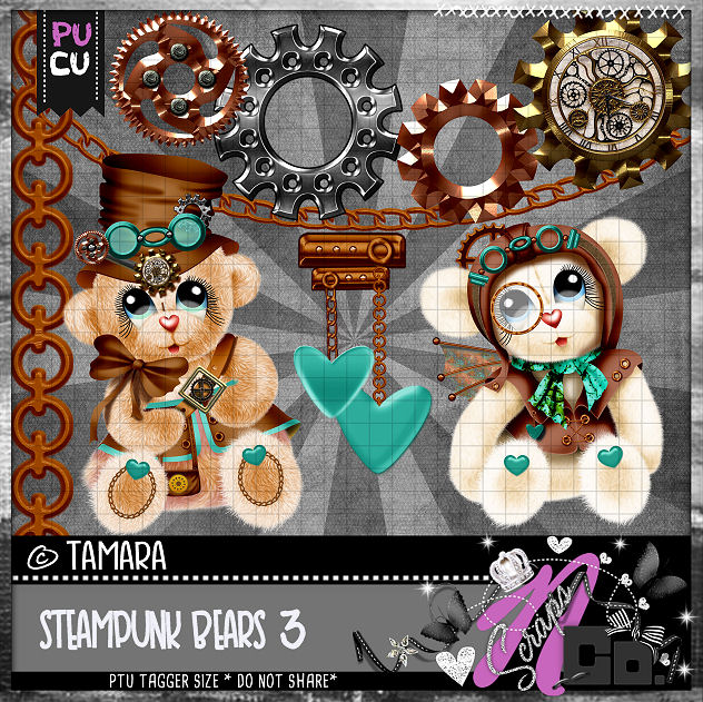 STEMPUNK BEARS SET 3