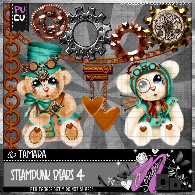 STEMPUNK BEARS SET 4