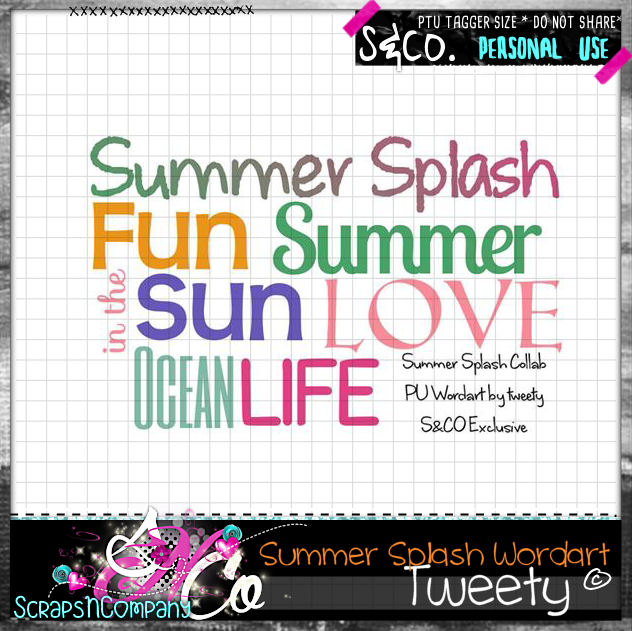 SUMMER SPLASH COLLAB WORDART