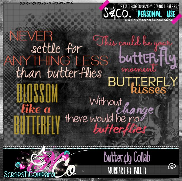 BUTTERFLY COLLAB WORDART