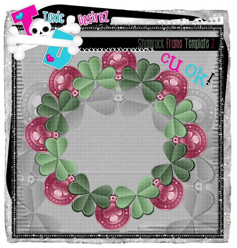 SHAMROCK FRAME-LUCKY THE IRISH COLLAB