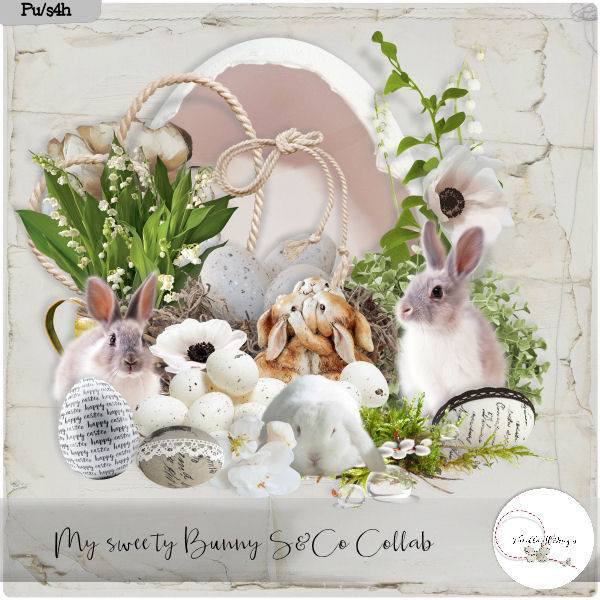 MY SWEET BUNNY SCRAPKIT ELEMS BY VANILLAM DESIGNS