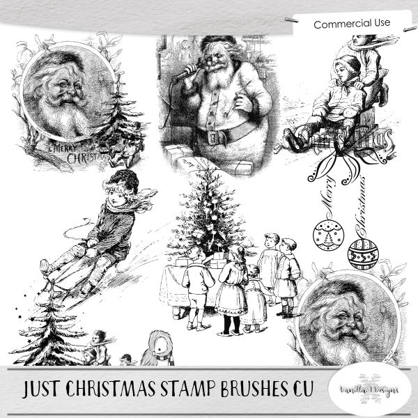 Just Christmas Stamp Brushes CU