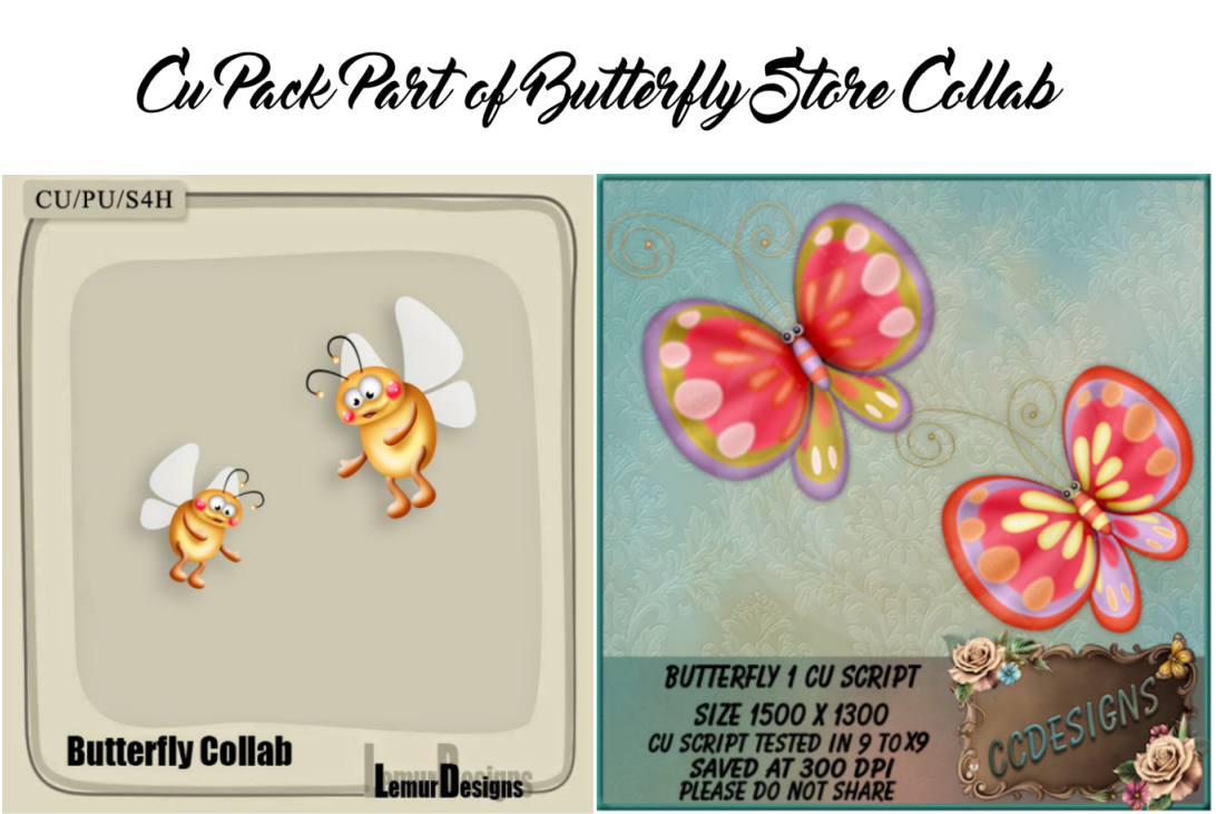 CU PACK PART OF BUTTERFLY COLLAB