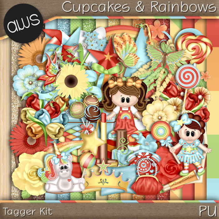 Cupcakes & Rainbows Tagger Kit