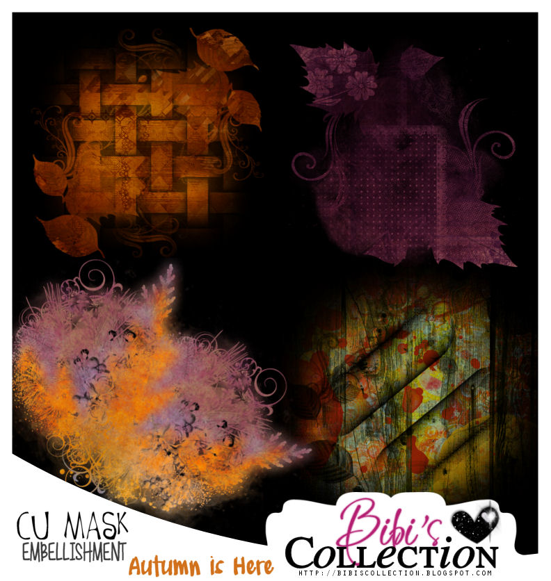 CU MASK EMBELLISHMENTS PACK AUTUMN IS HERE COLLAB