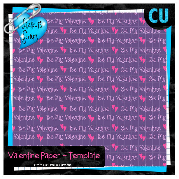BE MY VALENTINE PAPER BY LIZQUIS